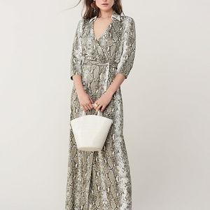 DVF python wrap dress